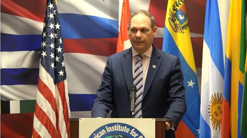 Miguel Angel Martin en el Interamerican Institute for Democracy sobre Venezuela y la CPI